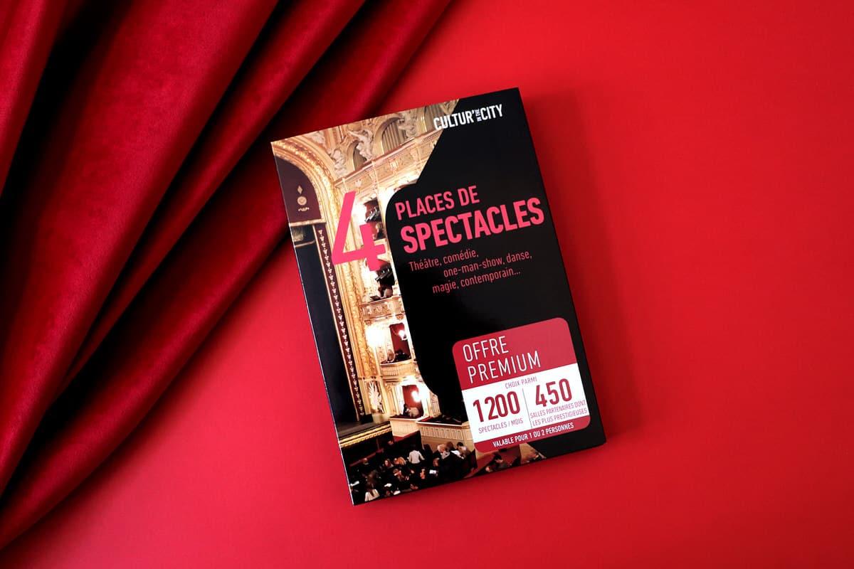 1200 Spectacles Premium 4 Places 450 Salles Partenaires Partout en France Th/é/âtre Danse One Man Show Com/édie CULTURIN THE CITY Coffret Cadeau Magie et Autres !