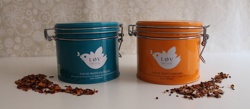 Les nouvelles Eaux de Fruits Løv Organic