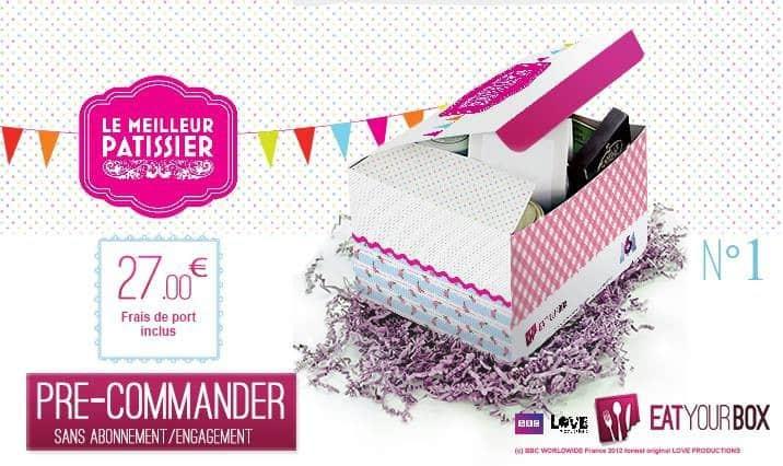 Eat Your Box s'associe à l'émission Le Meilleur Pâtissier d'M6...