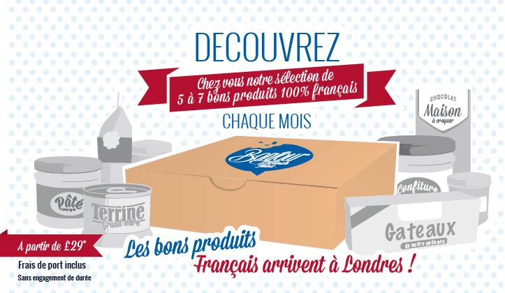 Une Box dédiée aux produits Français en Angleterre