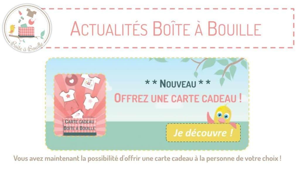 Des cartes cadeaux désormais disponibles chez Boite à Bouille