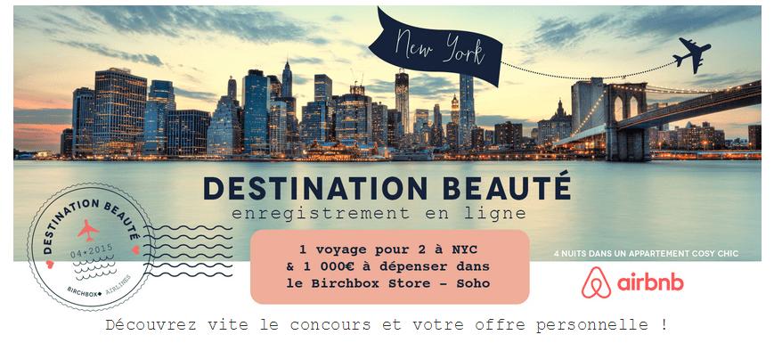 Birchbox: Embarquement direction New-York city avec le jeu Destination beauté !