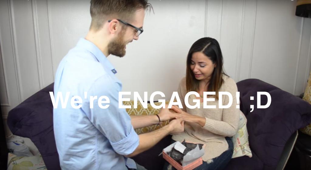 Une demande de mariage en vidéo avec Birchbox