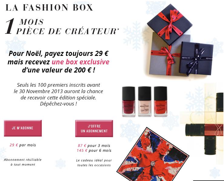 La Fashion Box : Une Box pour Noël