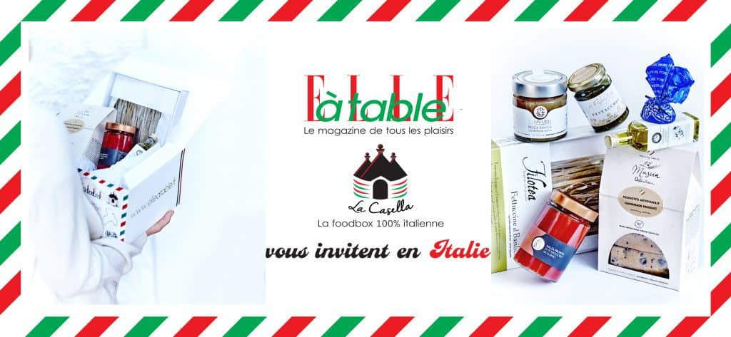 Une collaboration 100% gourmande avec la Casellabox et le magazine Elle à Table