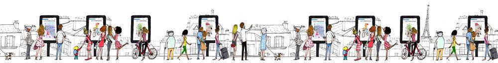 My Little Expo : découvrez les illustrations Kanako en plein air à Paris cet été