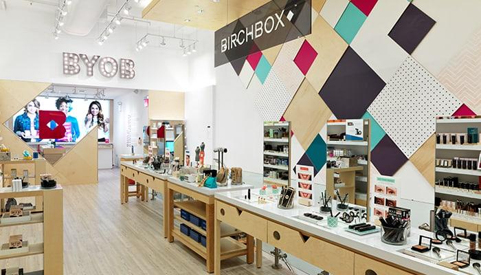 Birchbox continue d'ouvrir des boutiques aux USA