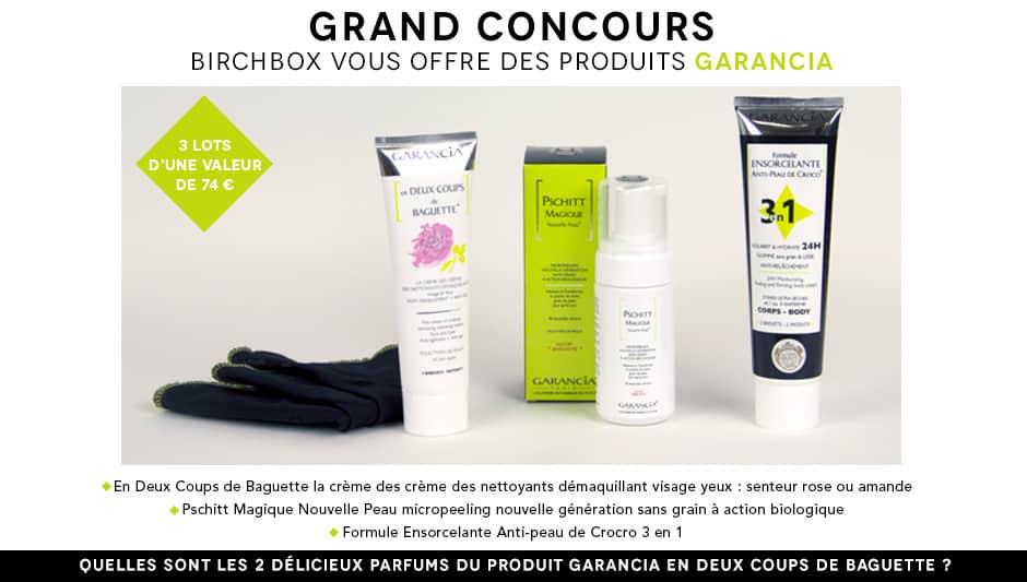 Jeu concours Garancia chez Birchbox