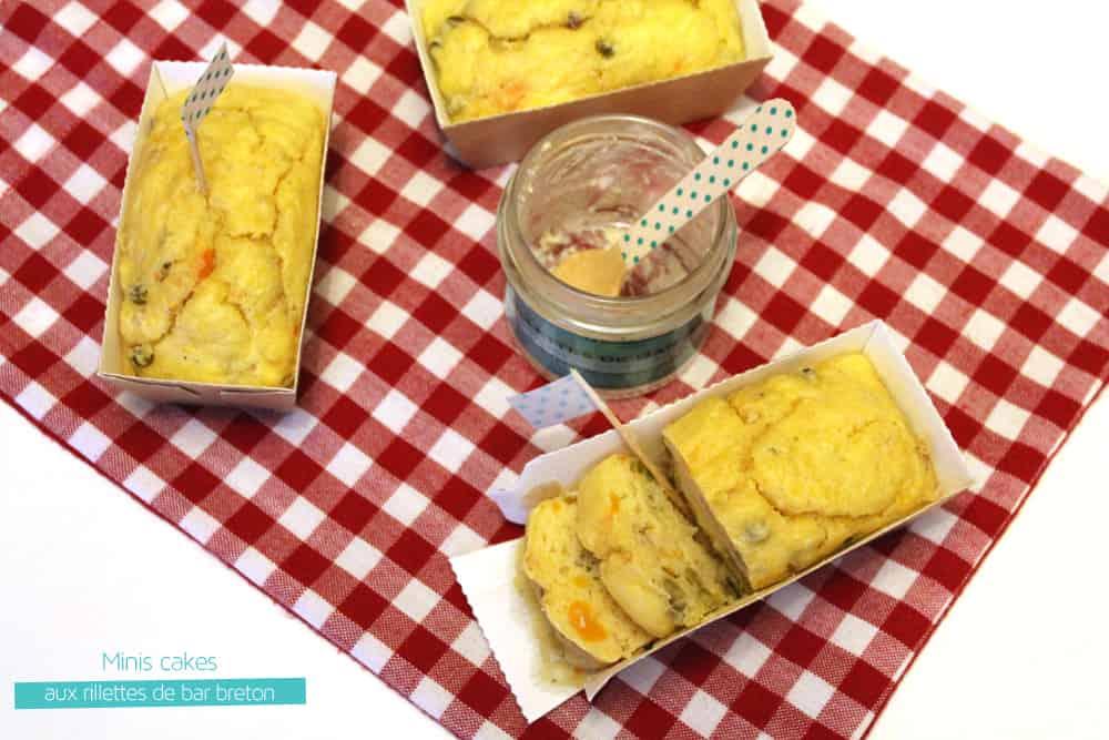 Minis cakes aux rillettes de bar breton