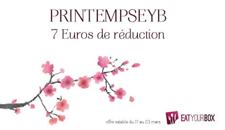 Promotion sur la Eat Your Box d'Avril