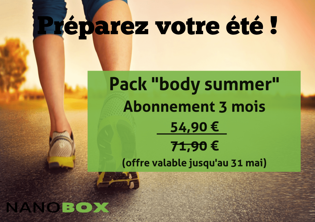 "Nanobox propose son Pack promo ""Body Summer"""