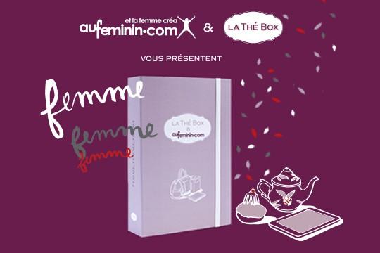Au féminin.com & la Thé Box s'associent pour un coffret en édition spéciale