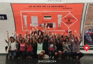 Birchbox fête ses 4 ans avec une publicité dans le métro parisien