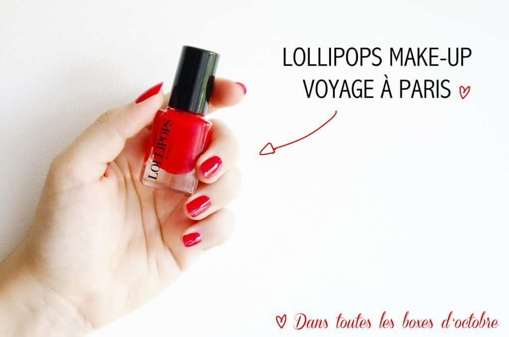 Un vernis rouge Lollipops se glisse dans toutes les birchbox d'octobre