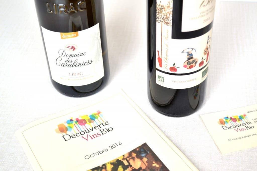 Découverte Vins bio - Octobre 2016
