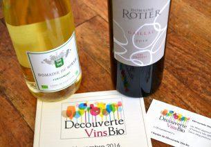 Découverte vins bio - Novembre 2016