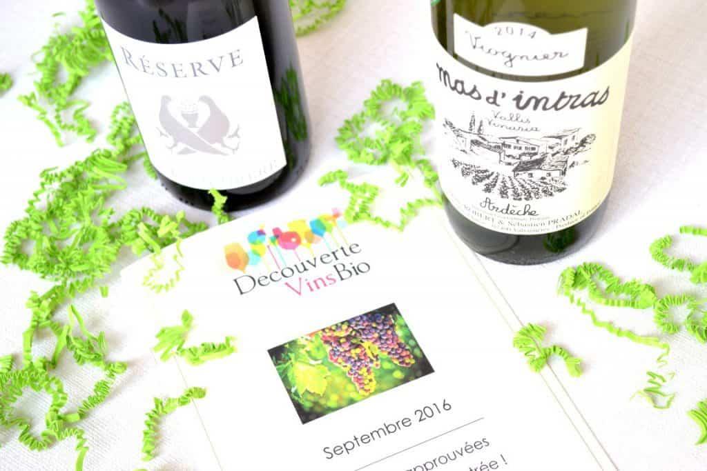 Découverte Vins Bio - Septembre 2016