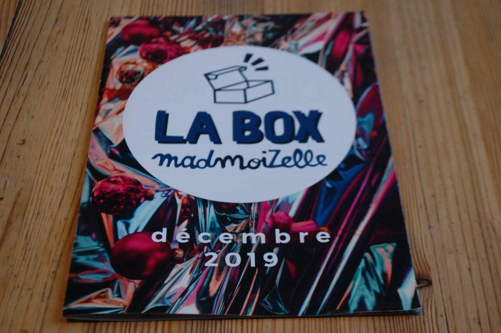 Box Madmoizelle de décembre 2019