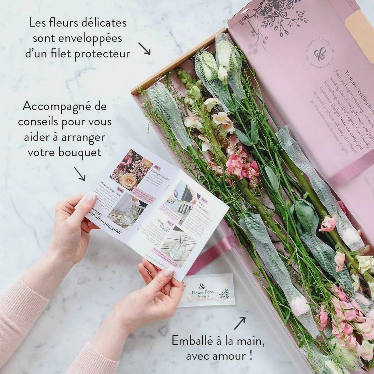 Tout est compris dans l'abonnement fleurs Bloom & Wild