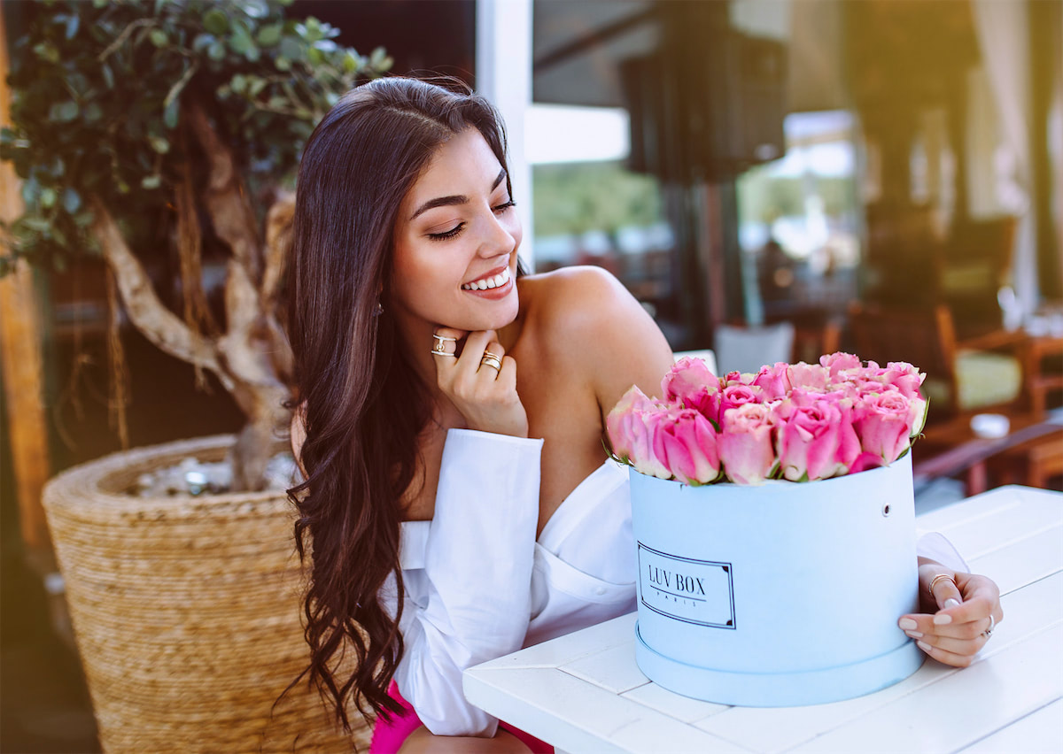 Luvbox : un coffret de fleurs magnifique