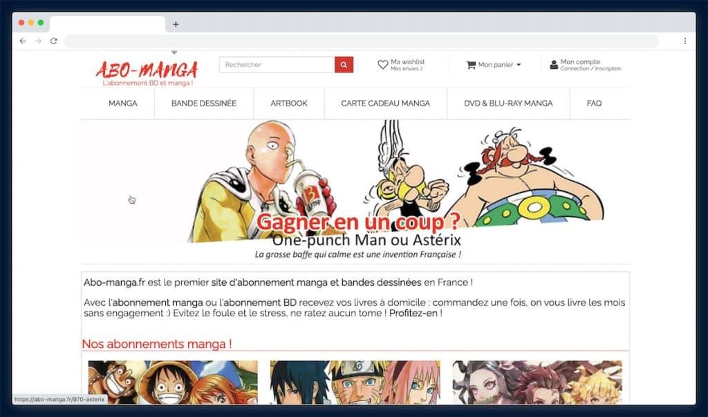 Abo-Manga : la librairie en ligne spécialiste du manga