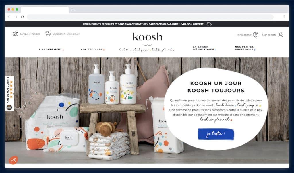Koosh, l'abonnement dégressif