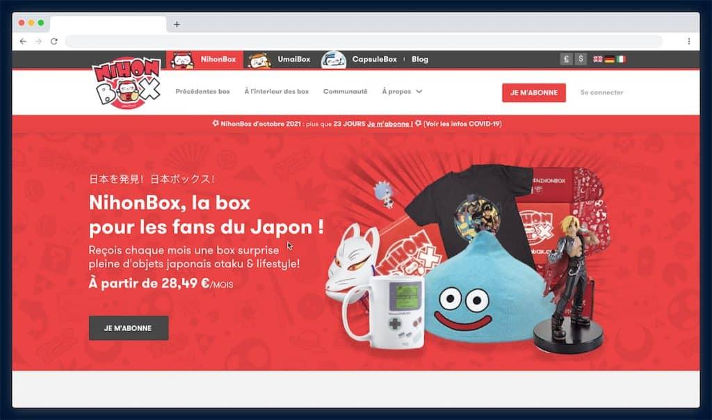 Nihon Box : la box manga venue du Japon